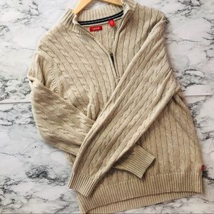 02c1b1311717 Izod Sweaters   Nwt 14 Zip Corded Sweater   Poshmark